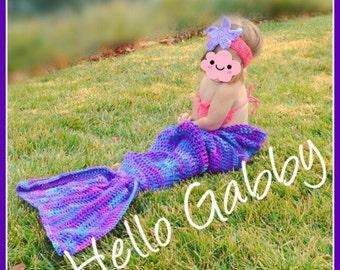 Mermaid Tail Pattern ALL SIZEs CROCHET PATTERN for Crochet Mermaid Tail Blanket Plantern, Tutorial Crochet Pattern, Birthdat Photo Prop