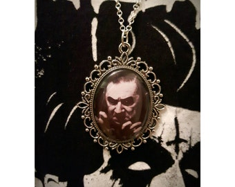 Ladies Large Pendant Bela Lugosi Silver Plated Necklace