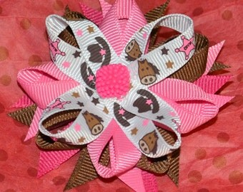 Small Cowgirl Hair Bow