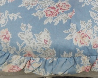 Cottage Chic Chintz Rose Chair Cushion!