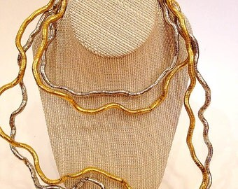 Gold and Silver Necklaces--Funky and Wild--Sculpture--Museum of Modern Art--MOMA--Pair
