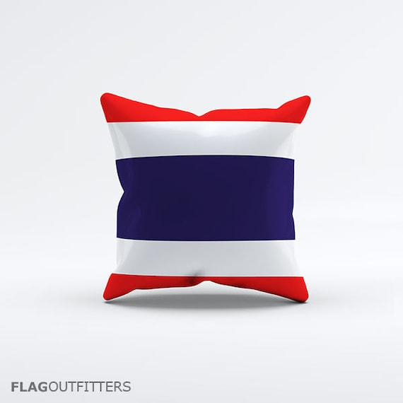 15 Inch Throw Pillow Covers : Flag of Thailand Throw Pillow Cover 15 x 15 inch