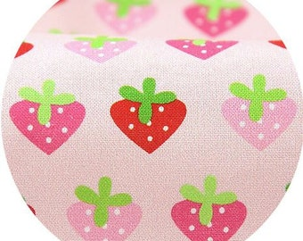Mini Strawberries Pattern Digital Printing Cotton Fabric by Yard