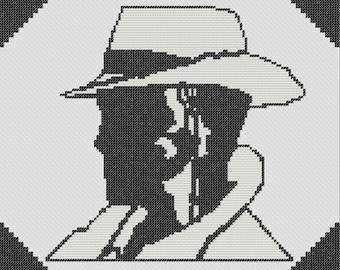 Nick Valentine (Fallout 4) Cross Stitch Pattern