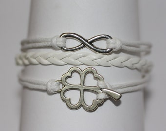 LUCKY~ Four Leaf Clover Bracelet, Clover Bracelet, Good Luck Bracelet, Lucky Charm Bracelet, 4-H Bracelet, STEM Bracelet, ilovecheesygrits