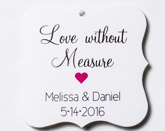 Love Without Measure Favor Tags, Love Without Measure Wedding Favor Tags, Wedding Hang Tags  (FS-85)