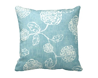 Blue Throw Pillow Covers Decorative Pillow Cover Blue Pillow Cover Floral Pillows 12x24 18x18 20x20 inches