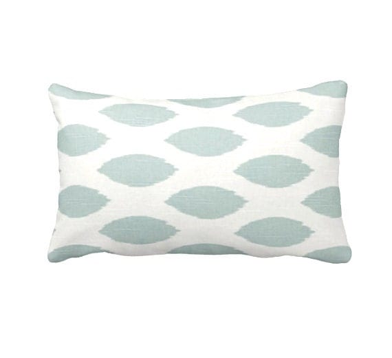 Blue Lumbar Pillow Covers Blue Throw Pillow Covers Powder Blue