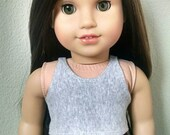 Grey crop tank top for American Girl Dolls