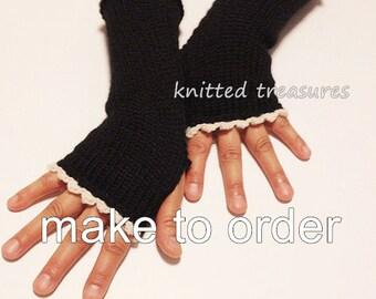 Wool BlendvFingerless Glove Arm Warmer