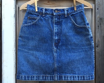 "Vintage Gap Denim Jean Mini Skirt - 27"""