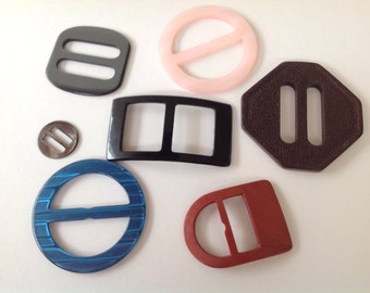 Vintage collection of Buckles for projects craft scrap booking card making