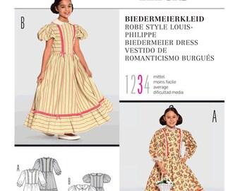 Burda Pattern 9529 Biedermeier Dress Costume for children