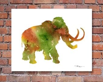 Mammoth - Art Print - Abstract Watercolor Painting - Wall Decor