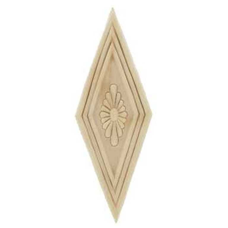 Large diamond wood applique decorative wood wood crafts 1 pc for Decorative wood onlays