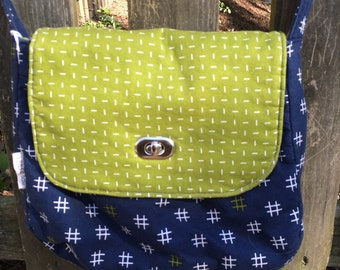 Blue and Green Crossbody Bag