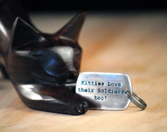 Kitty Military Tag - Pet Tags - Pet ID Tag - Dog Tag - Cat Tag - Soldier Tag - custom pet tag - Custom Cat Tag - Military - Personalized