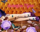 Butterflies tights 30D - STONE GRAY