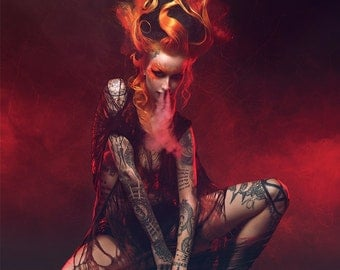 LARGE A1/A2 PRINT: Shelly d'Inferno by Pascal Latil, high quality matte photo poster
