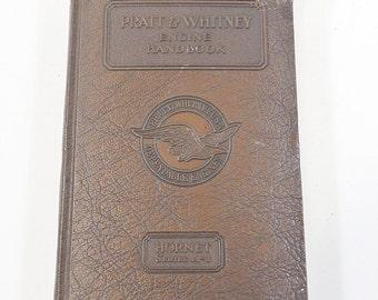Pratt & Whitney Hornet Series A-1 Engine Handbook Manual 1929