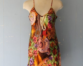 Vintage  Silk Slip Dress/90s Slip Dress/Boho/Street Style/