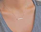 Crazy Sale - Gold Bar Necklace - 14k Gold filled - Simple - Casual - Minimalist