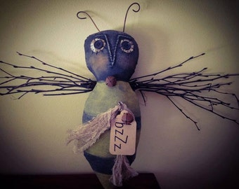Primitive Made to Order Buzz Bee Spring Door Greeter