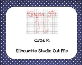 Cutie Pi Day Silhouette Cut File