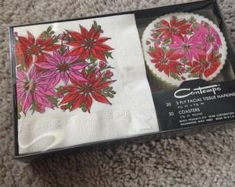 Vintage Contempo Christmas Napkins & Coasters