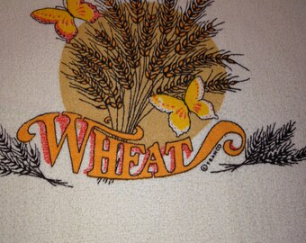 Vintage Wheat Dish Towel by Franco