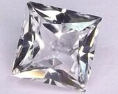 White Sapphire corundum lab created Square princess cut 6x6mm. loose gemstones.