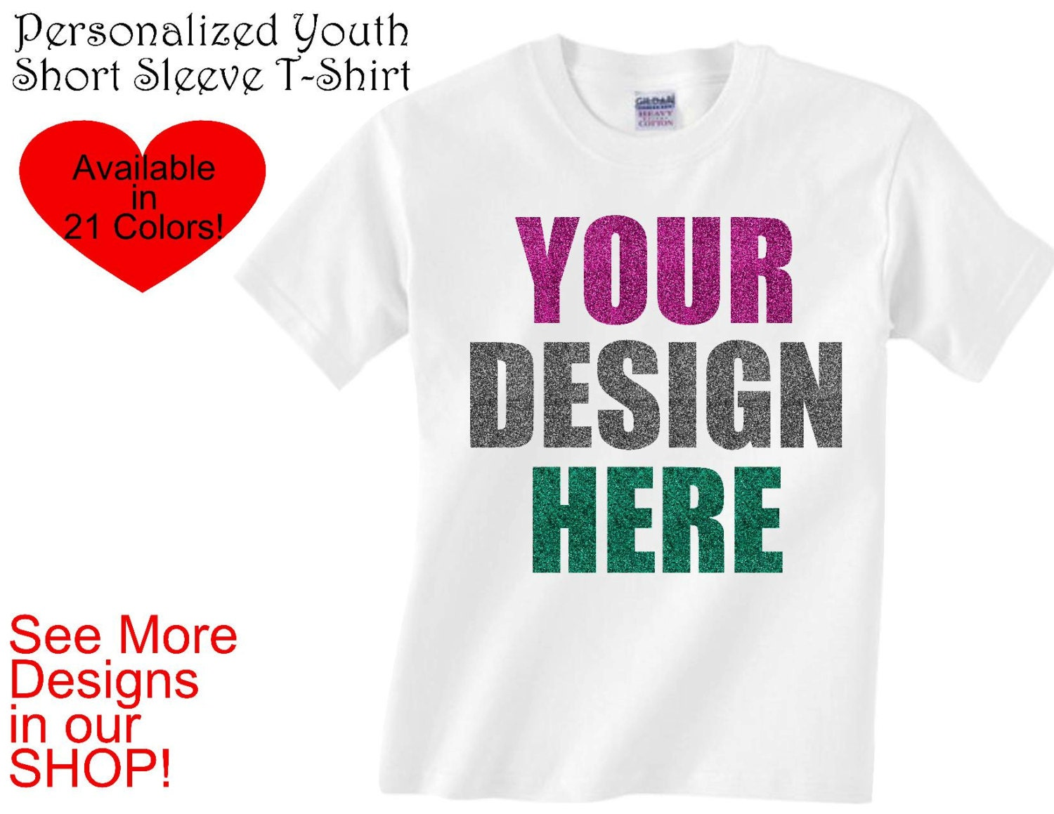 Personalized youth t shirt create your own custom design for Custom shirts design your own