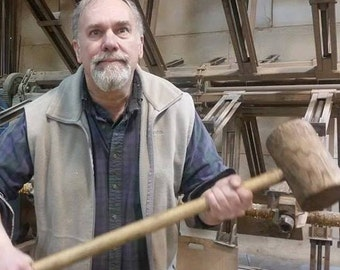 Large Wooden Mallet , Tent Staking Mallet, 3 Foot Wooden Mallet