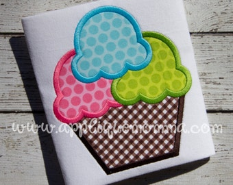 Ice Cream 16 Applique Design