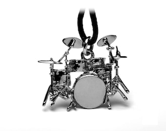 Drum Kit Pendant! Incredible Detail! Great Gift for a Student or Teacher!