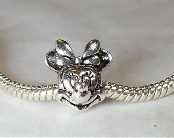 Mouse Charm Spacer -Cute  Mouse Charm- Fits all Designer and European Charm Bracelets