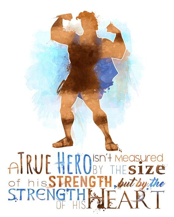 Disney Hercules Quotes: Hercules A True Hero 8x10 Poster DIGITAL