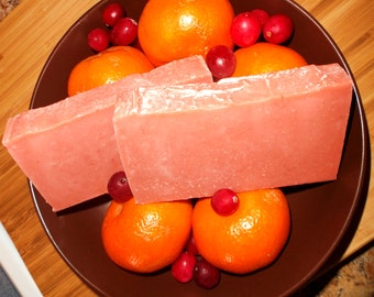 Cranberry Orange Soap - Phthalate Free - Cold Process Soap - Handmade Soap - Fruit Soap