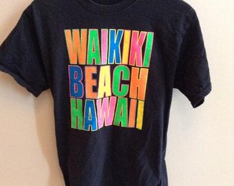 Vintage Waikiki Beach, Hawaii shirt - MEDIUM
