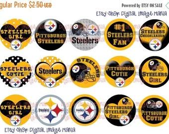 HUGE SALE INSTANT Download Pittsburgh Steelers Inspired 4x6 Digital Printable 1 Inch Circle Bottle Cap Images