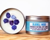 Large Bluebell Wood Natural Soy Wax Candle