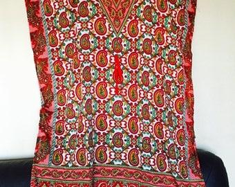 Women kaftan caftan evening everyday summer dress beach dress cover up long maxi dress printed free size.