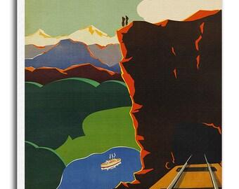 Norway Art Canvas Norwegian Travel Poster Print Hanging Wall Decor xr628
