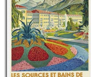 Swiss Art Print Switzerland Tarasp Travel Poster Vintage Canvas Decor Hanging Retro Wall Picture xr810