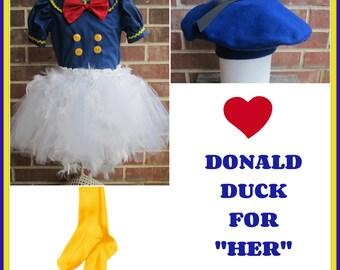 Donald Duck inspired Disney Dress, Donald Duck Dress, Donald Duck Costume, Disney Dress, Donald