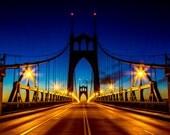 St John Bridge Photography/Suspension/Architecture/Gothic/Portland/Oregon/Photo on Metal, Canvas, or Prints