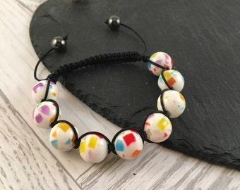 Macramé Bracelet, Chunky Bracelet, Confetti Bracelet, Macramé Jewellery, Fashion Jewellery, Summer Jewellery, Ladies Jewelry