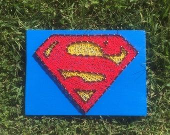 SUPERMAN String Art