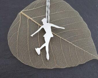 Sterling silver figure skater