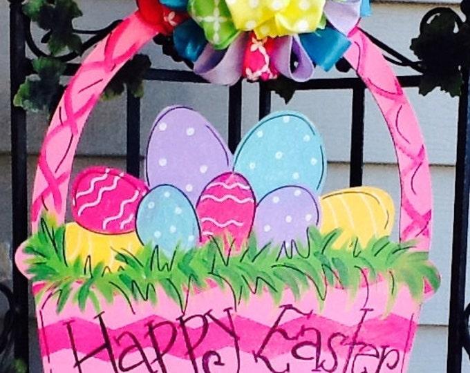 Easter basket door hanger, easter door hanger, easter decoration